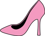 Pink High Heel Shoe T-shirts