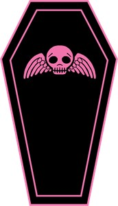 Cute Pink And Black Coffin