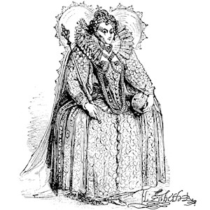 Queen Elizabeth I Illustration