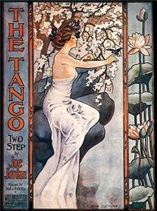 Vintage Music Art Nouveau Tango