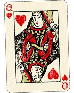 Retro Queen Of Hearts