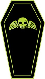 Cute Coffin Green And Black