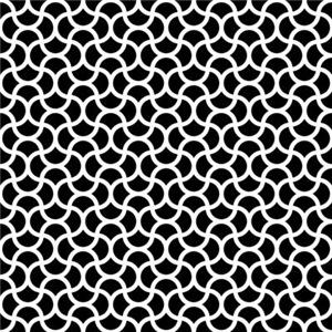 Wavy Scale Pattern Black Small