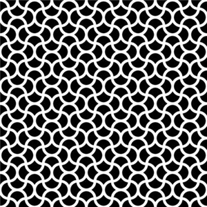 Wavy Scale Pattern Black Small