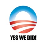 Yes We Did! - Barack Obama Logo