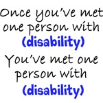 One person with (any disability)