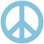 Gentle Blue Peace Sign