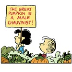 Lucy Protests the Great Pumpkin