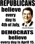 Reagan Quote - Republicans believe every day is