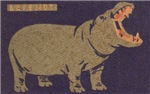 Hippo Matchbox Label