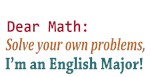 Dear Math Solve Your Own ProblemsD