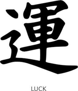 Luck - Kanji Symbol