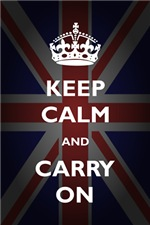 Keep Calm And Carry On (On Union Jack)