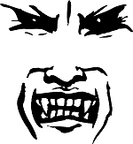 Evil Vampire Face
