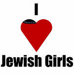 I Love (heart) Jewish Girls /Yarmulka
