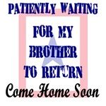 Patiently waiting for my brother to return home