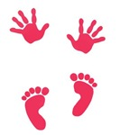 Multi-Colored Baby Hand and Foot Prints