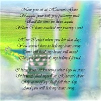 Rainbow Bridge Poem Cards Gifts Memorials