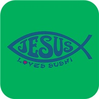 Jesus Loves Sushi - Blue