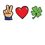 Peace Love Shamrocks t-shirts