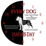 BEAUTIFUL ARTISTIC PIT BULL DESIGNED WALL CLOCKS