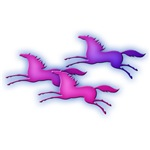 Cute Pink Ponies. Equestrian Clothing & Gifts