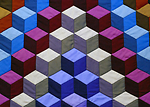 Amish 3-D Block Quilt