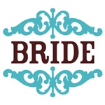 Bride (Chocolate Brown and Tiffany Blue)