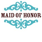 Maid of Honor (Chocolate Brown and Tiffany Blue)