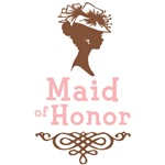 Cameo Maid of Honor (Pink & Brown)