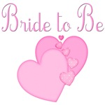 Pink Hearts Bride to Be Gifts