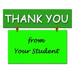 A Student Thank You