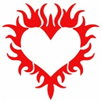 Tribal Heart (Red)