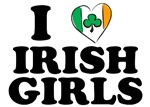 I Love Irish Girls Heart T-Shirts