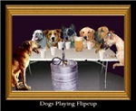 Dogs Playing Flip Cup