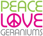 Peace Love Geraniums