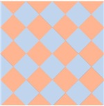 Harlequin Diamond Argyle Pattern Coral Blue Pastel