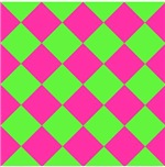 Harlequin Diamond Argyle Pattern Neon Blue Green