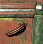 Rusted Classic Ford Truck Door