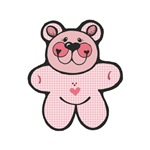 Pink Checkered Country Style Teddy Bear
