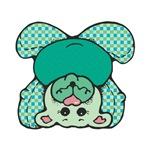 SIlly Green Checkered Teddy Bear