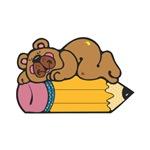 Sleepy Bear on Pencil
