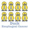 Esophageal Cancer Awareness Ribbon Ducks