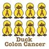 Colon Cancer Awareness Ribbon Ducks