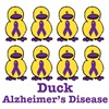 Alzheimer's Disease Awareness Ribbon Ducks