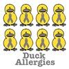 Allergies Awareness Ribbon Ducks