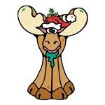 Cute Christmas Moose
