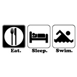 Eat. Sleep. Swim.