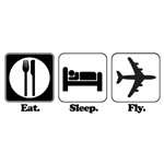 Eat. Sleep. Fly. (Pilot/Plane)