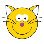 Kitty Cat Smiley Face